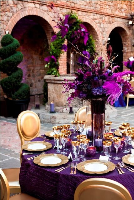 gold and purple wedding decor purple gold and purple gold on 4519