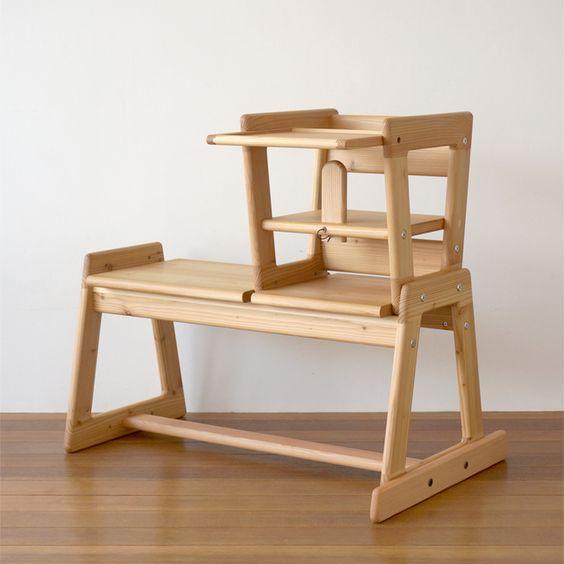 オンブーチェア/木製の食事椅子・ベビーチェア ベンチ | take-g | テイクジー | 木のおもちゃ・木の家具