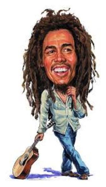 Gambar kartun BOB MARLEY