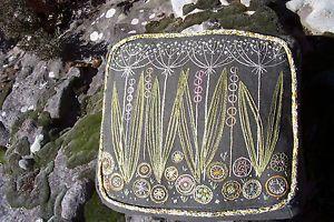 Vintage Mid Century Danish Modern Avocado Green Crewel Embroidered Pillow   eBay
