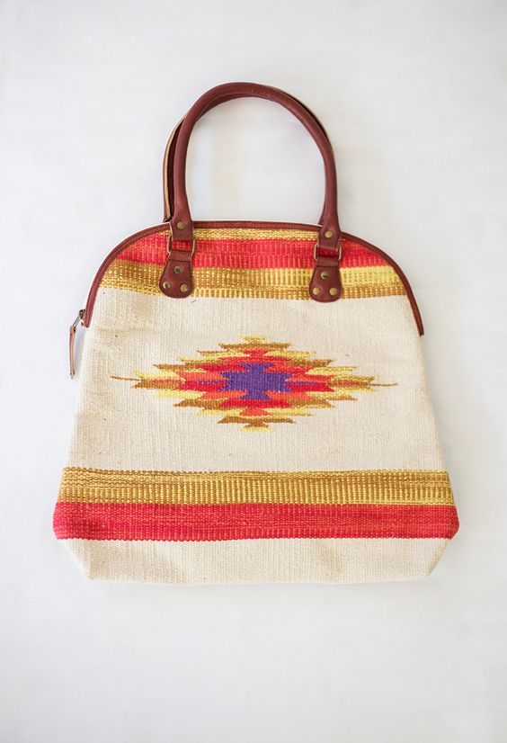 Aztec Star Canvas Handbag $72