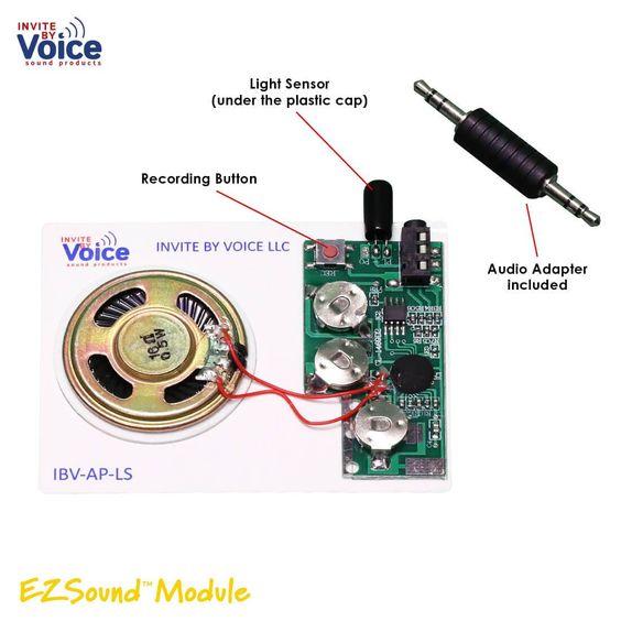 Ezsound Module Light Activated Audio Chip Light Sensor Audio Personalized Music Box