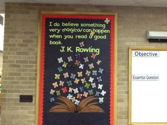 J. K. Rowling's quote and I wrote some of the first Harry Potter book on the book with 3D butterflies.  Cute.