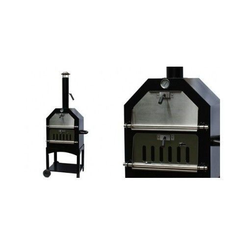 WOOD FIRE STONE BAKED PIZZA OVEN SMOKER ROASTER BARBEQUE BBQ GRILL MEAT SMOKING