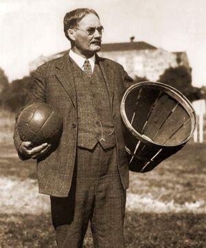 james naismith peach basket ... the first basketball equipment.