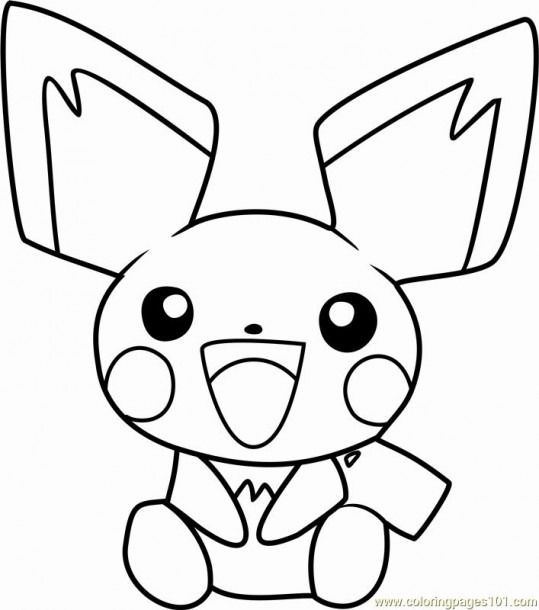 Pokemon Coloring Pages Pichu Coloring Coloringpages In 2020