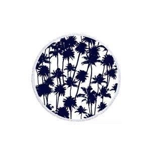 Serviette ronde La Palmeraie LES ANTILLAISES - Serviette de plage