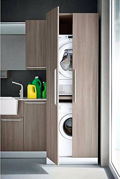 Colonne Lave Linge Seche Linge Meuble Lave Linge Seche Linge Meuble Dessus De Machine A Laver Tall Cabinet Storage Home Appliances Storage Cabinet