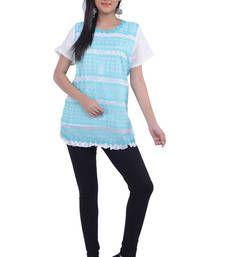 Buy blue  georgette kurti kurtas-and-kurti online