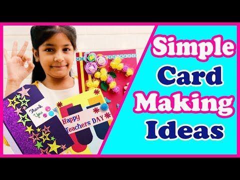 Youtube Teachers Day Card Handmade Cards Diy Cards Handmade