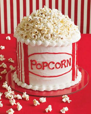 I love me some popcorn. How cool is this cake.