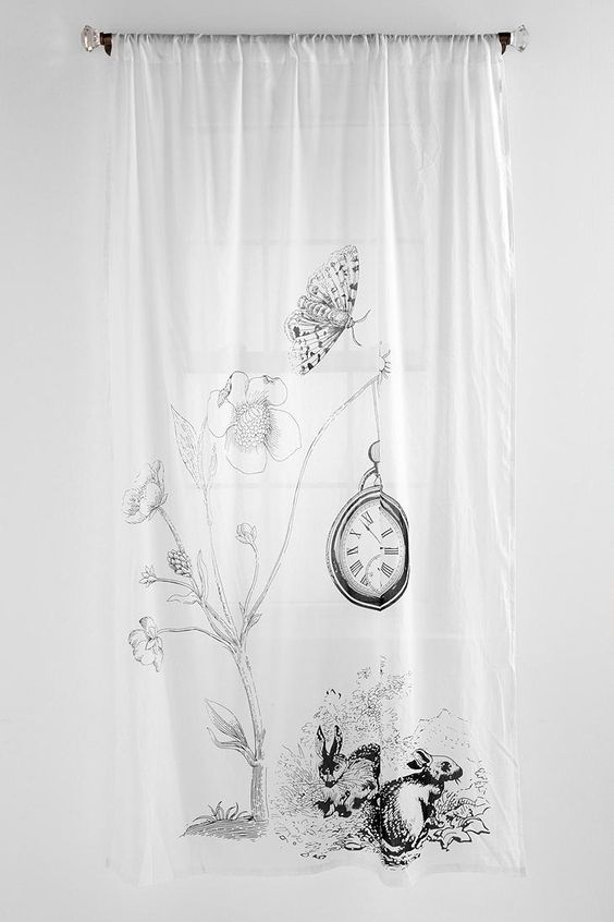 Curtains Ideas alice in wonderland curtains : White Rabbit Curtain | Urban outfitters, Alice and wonderland and ...