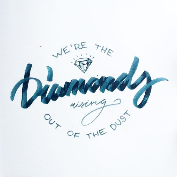 Yes we are!✨ •this is a message to everybody who feels down• #diamonds #dust #typography #lettering #tattoo #localsmd #inspire #vsco #vscoart #vscocam #brush #brushscript #radioncicic #ink #illustration #art #artist #sketch #sketchbook #design #graphic #graphicdesign #handlettering #cursive #caligritype #леттеринг #типографика #иллюстрация