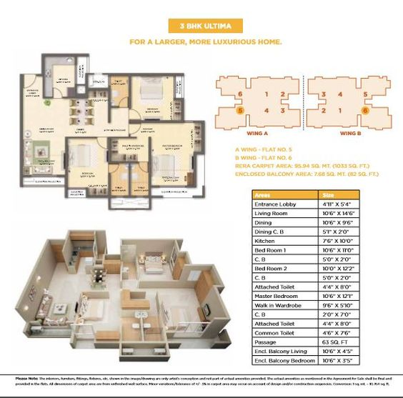 Dosti West County Dosti Cedar Floor Plan Dosti Cedar 3 Bhk Ultima Floor Plan Visit Https Www Rbrealty In Properties Dost Floor Plans Luxury Homes Cedar