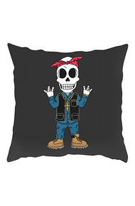 Tribes The WC Legend Skull Throw Pillow