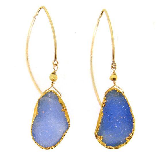 Gorgeous Druzy Earrings by LeMel Designs, a jewelry line designed by UT grads!