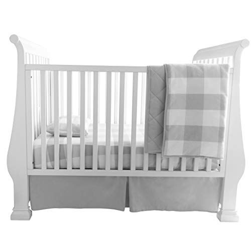 Baby Crib Bedding Sets, Pink Gingham Baby Bedding