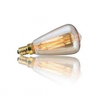 Vintage E14 E 14 Edison Glühlampe Bulb Glühbirne für JØLG Lampe (Kolbenform 25 Watt Birne)