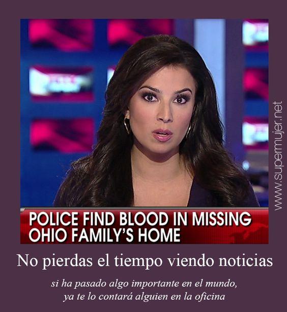 No pierdas el tiempo viendo noticias. Si ha pasado algo importante en el mundo ya te lo contará alguien en la oficina.