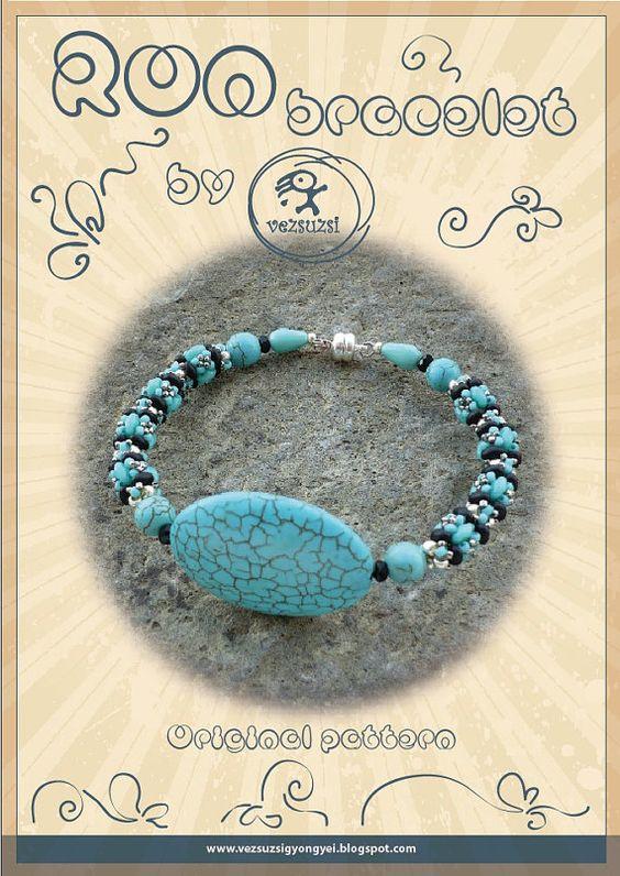 Bracelet tutorial / pattern Ron with superduo by beadsbyvezsuzsi, $11.00