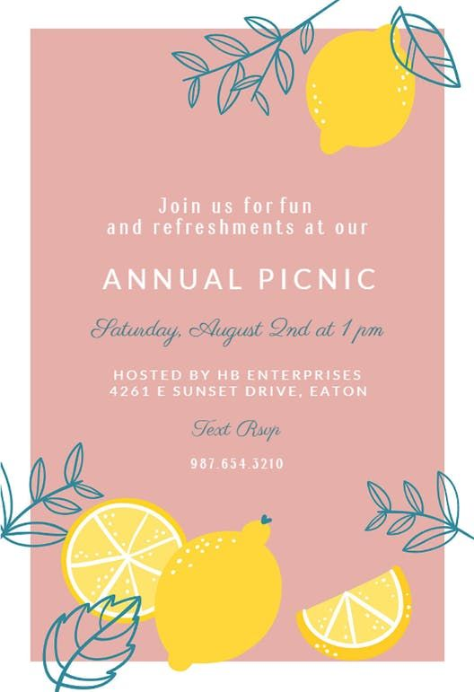 Lemons Pool Party Invitation Template Free Greetings Island Party Invite Template Pool Party Invitation Template Pool Party Invitations