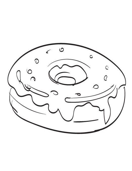 Donut Coloring Pages Donut Coloring Page Coloring Pages Food
