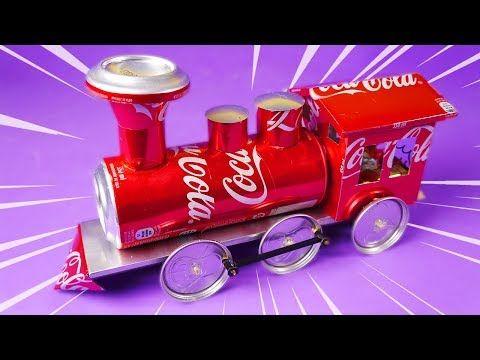 Tren Eléctrico Casero Hecho Con Latas De Aluminio Youtube Latas De Aluminio Reciclar Latas De Cerveza Artesanías De Latas De Aluminio