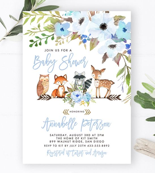 Free Baby Shower Invitation Template Woodland Fox Flowers Editable Printable Market Free Baby Shower Invitations Baby Shower Invitations Baby Shower Invitation Templates