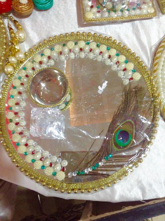 Hand made rakhi puja thali