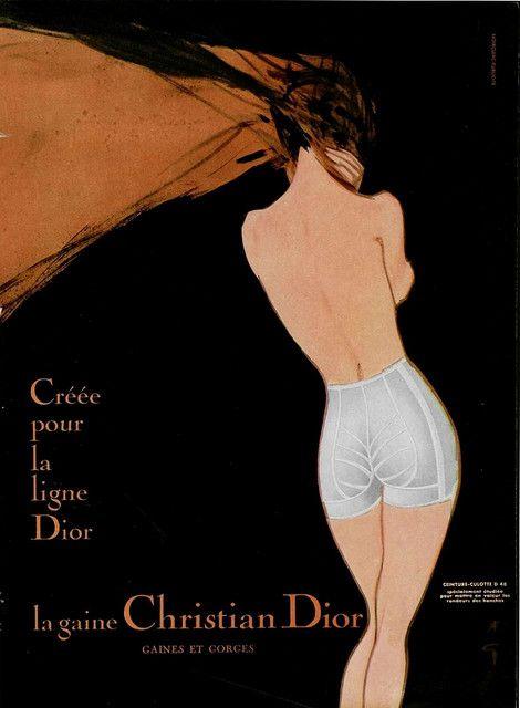 50s ad: Christian Dior girdle ♥, via Flickr