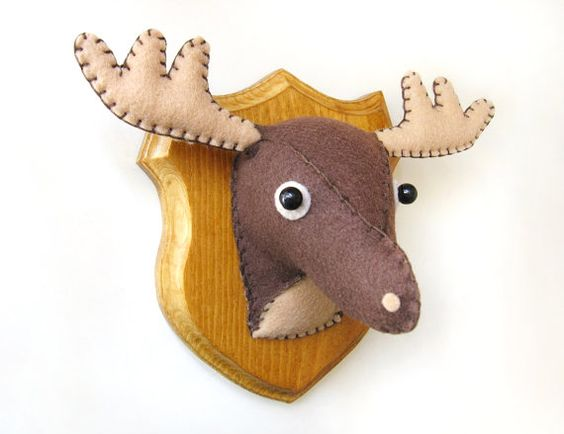 This is so cute how could i make one myself maybe a different animal make a couple for the - Fake stuffed moose head ...