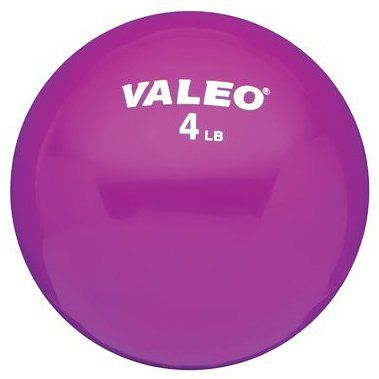 Amazon.com: Valeo WFB4 4-Pound Weighted Fitness Ball (4lb): Sports & Outdoors