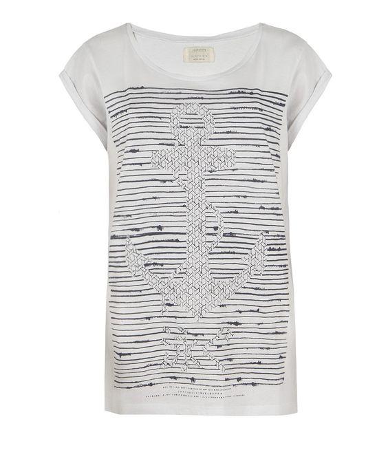 Hook Crew T-shirt, Women, Graphic T-Shirts, AllSaints Spitalfields