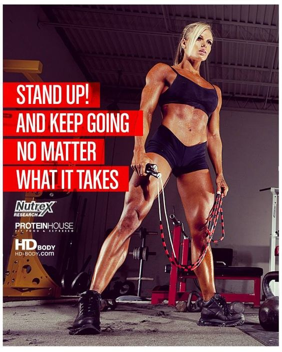 Stand up and keep going!
