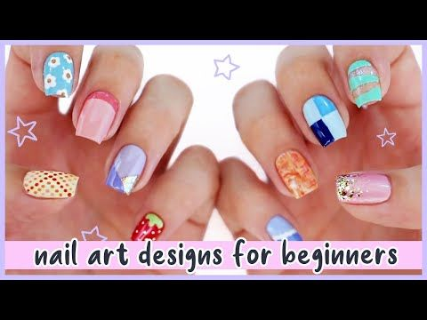 Cute Nail Art 2020 Fun Easy Nail Art Designs For Beginners Compilation Youtube In 2020 Simple Nail Art Designs Easy Nail Art Cute Nail Art