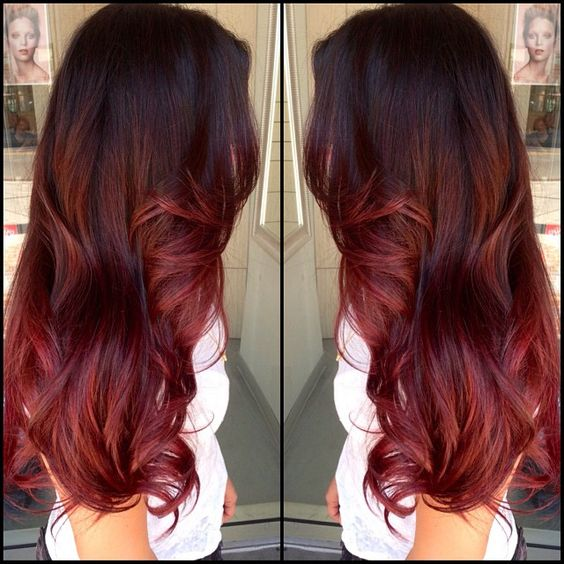 Ombr hair rot and ombre hair on pinterest - Ombre hair braun ...