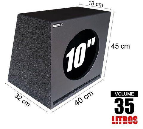 Caixa Dutada 1 X 10 Com 35 Litros Caixa De Som Automotivo Audio
