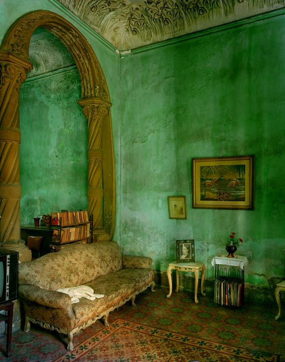 green living room: