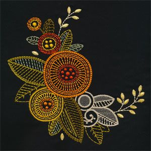 Sun Blooms Embroidery Collection Features Modern Folk Art