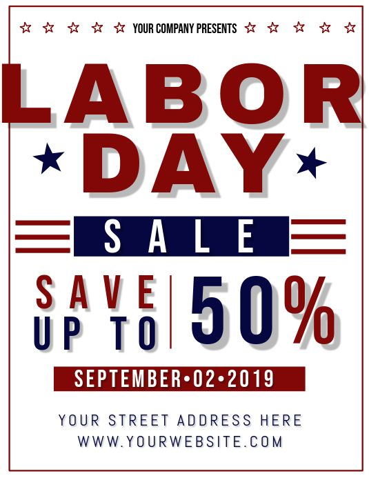 Labor Day Sale Design Your Own Poster Day Social Media Graphics