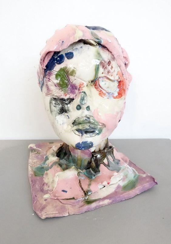 "nearlya: ""  Jennie Jieun Lee, The Swimmer, 2016, glazed stoneware, colored…"