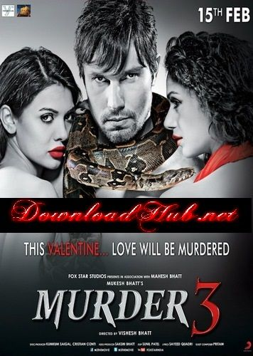 Poster Of Bollywood Movie Murder 3 (2013) 300MB Compressed Small Size Pc Movie Free Download downloadhub.net