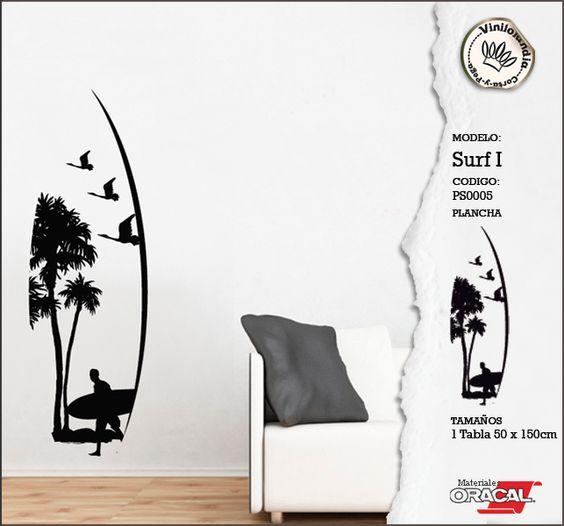 Vinilo Decorativo - Wall decal Surf