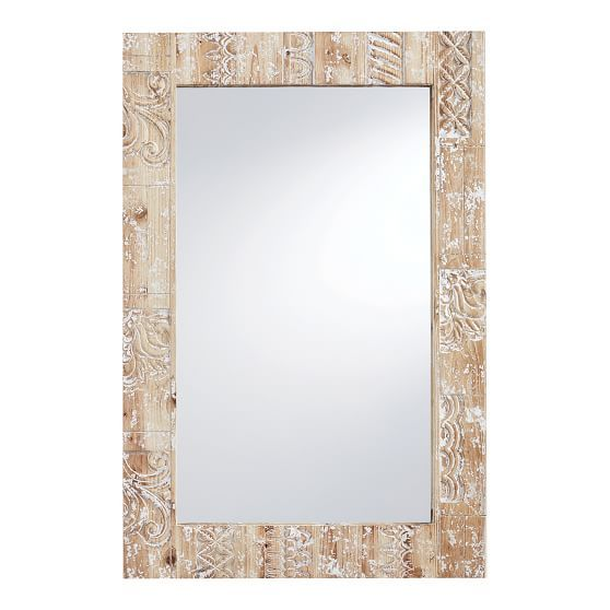 Wood Mirror Decor, Carved Wood Mirror Pottery Barn
