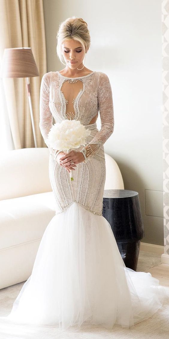24 Mermaid Wedding Dresses From Top World Designers ❤ See more: http://www.weddingforward.com/mermaid-wedding-dresses/ #wedding #dresses #mermaid:
