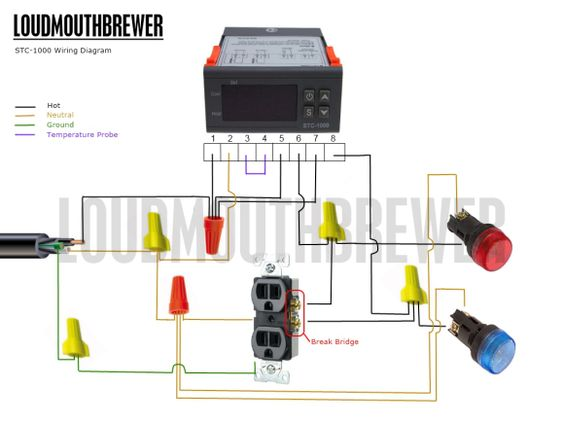 Wiring Diagram For Indicator Lights : Diy stc stage temperature controller wiring diagram