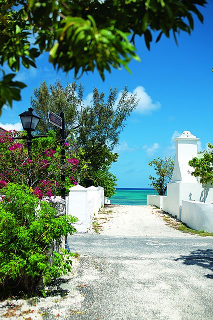 Front Street, the oldest street in Grand Turk, Turks and Caicos.: