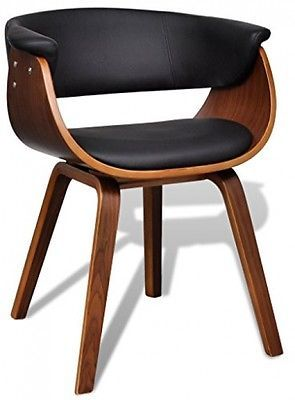 new Retro Design Dining Room Chair Brown Wooden Armchair Vintage Modern Seater