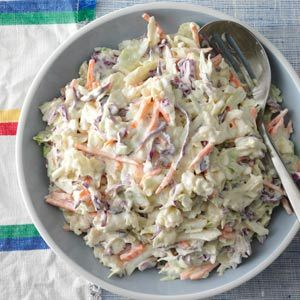 Creamy Coleslaw Recipe from Taste of Home  -- shared by Renee Endress of Galva, Illinois