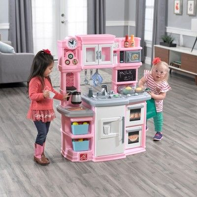 Step2 Great Gourmet Kitchen Pink Girls Kitchen Set Kids Play